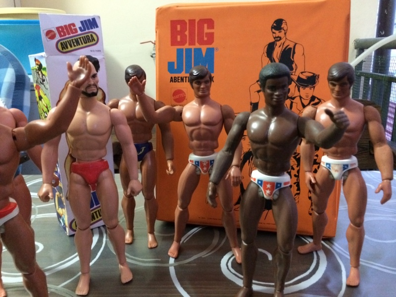 BIG JIM Mattel lotto di 7 personaggi più valigetta anni 70 , regalo Box   Foto_221