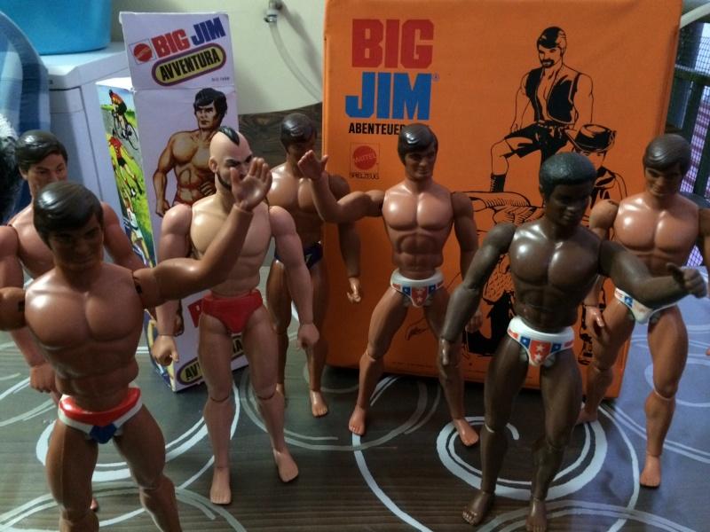 BIG JIM Mattel lotto di 7 personaggi più valigetta anni 70 , regalo Box   Foto_321