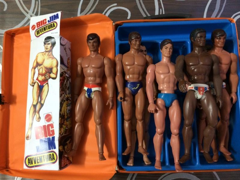 BIG JIM Mattel lotto di 7 personaggi più valigetta anni 70 , regalo Box   Foto_417