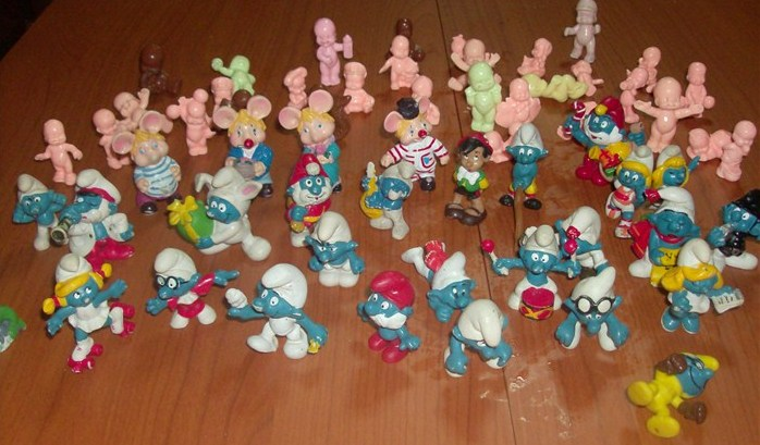 Puffi , Topo Gigio, Pinocchio Paciocchini , Cabbage , lotto di 64 pezzi anni 60 70 e 80 loose !! Hpim5030