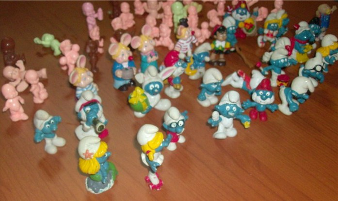 Puffi , Topo Gigio, Pinocchio Paciocchini , Cabbage , lotto di 64 pezzi anni 60 70 e 80 loose !! Hpim5031
