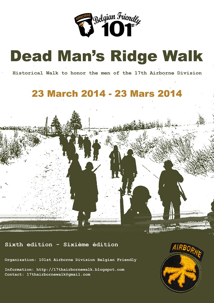 Dead man's ridge walk 2014, 17th Airborne Division Poster10