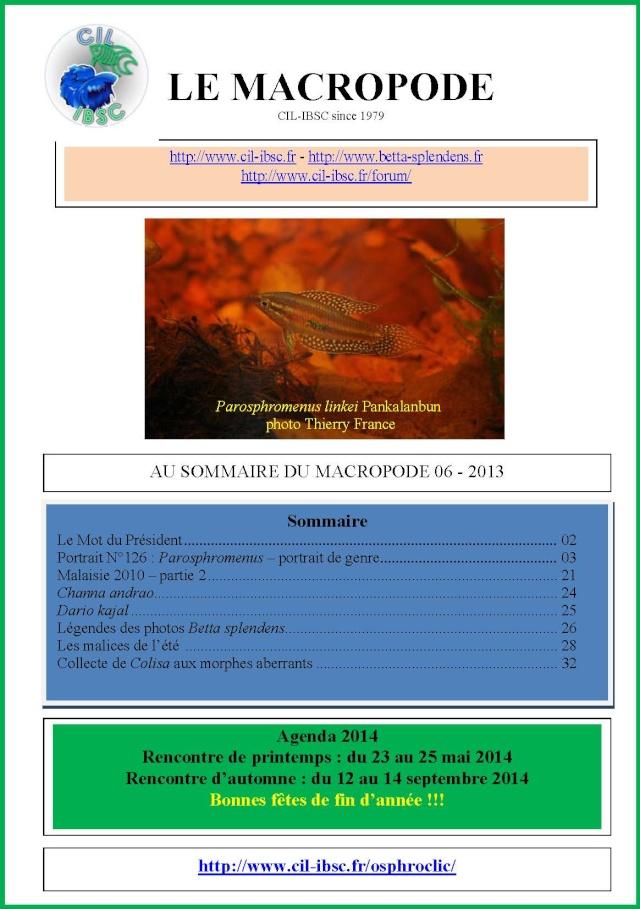 Sommaires revue du Macropode. 2013-011
