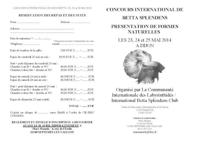 Dijon - Challenge International Show Betta - 23/25 Mai 2014 Inscri10