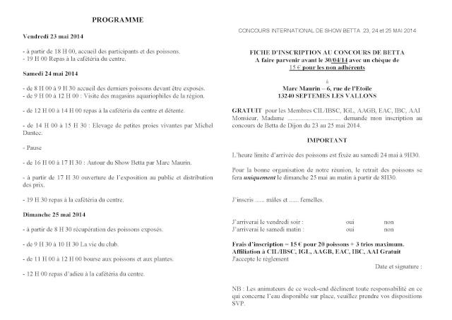 Dijon - Challenge International Show Betta - 23/25 Mai 2014 Inscri12