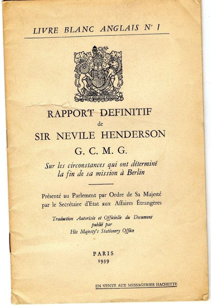 Rapport definitif de Sir NEVILLE HENDERSON. Img12810