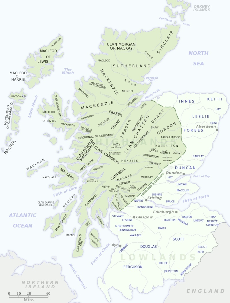 des Clans principal de le Nord de l'Ecosse Scotti11