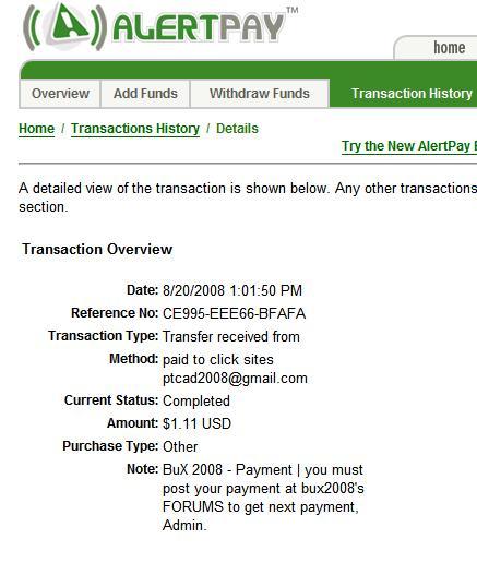 my first payment(standard member) Bux20011