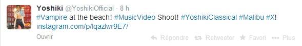 Yoshiki tourne un clip ... ou deux Yoshik10