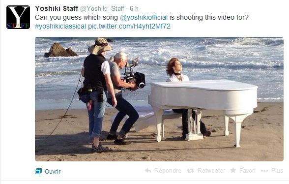 Yoshiki tourne un clip ... ou deux Yoshik12