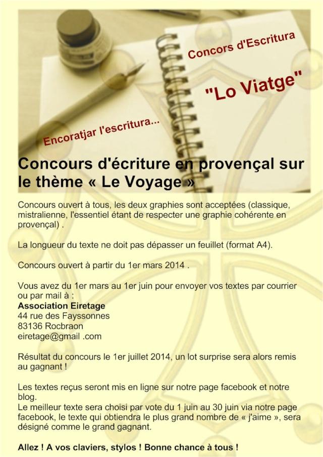 Concours d'écriture en provençal sur le thème du voyage Concou11