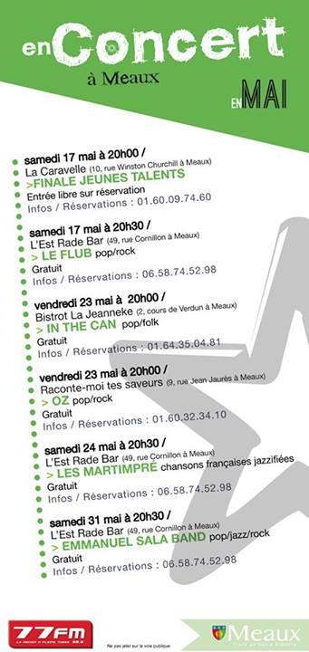 LE BRUIT DE MEAUX (concert, ciné, expos, spectacles...) 10276910