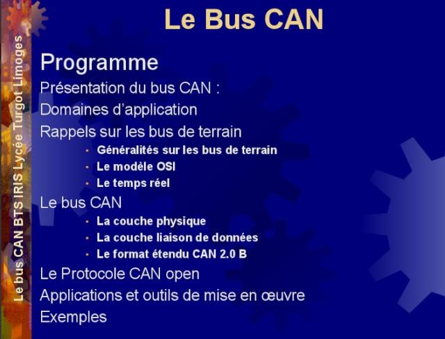 La ligne de datas BUS CAN  expliqué en diaporama (.ppt) Bus_ca10