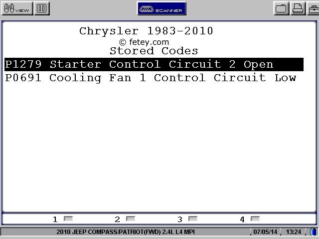Jeep Patriot 2010 2.4L, le démarreur ne tourne pas User0214