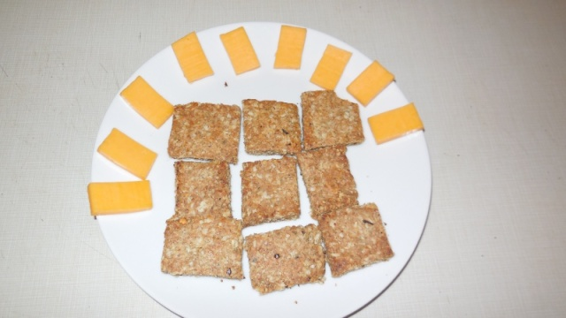 Spiced olive oil wheat germ crackers! Dscn0711