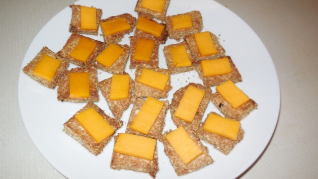 Spiced olive oil wheat germ crackers! Dscn0713