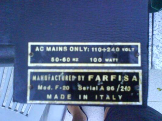Restauro de um Amplicador farfisa Dsc01226