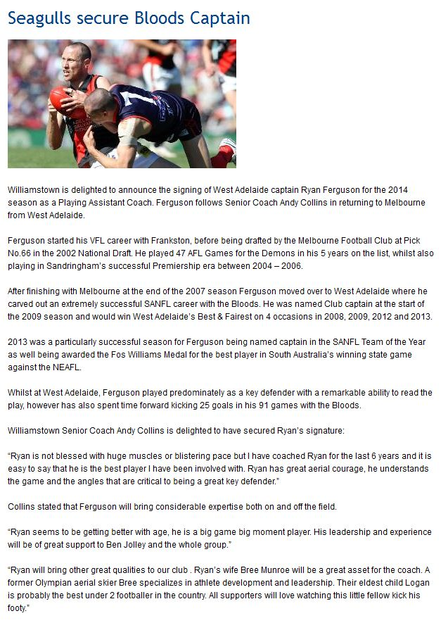 Ryan Feruson announces his retirement.  Captur27