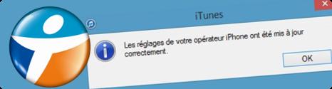"""""""Mise à jour des réglages opérateur"""" pour iPhone chez Bouygues Telecom 13906610"""