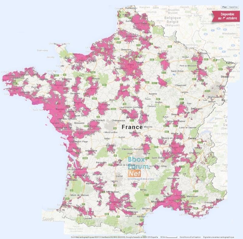 2113 villes en 4G Bouygues Telecom et mise à jour de la carte de couverture 4gfran11