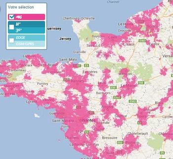 Déjà 500 000 clients équipés et en 4G sur le réseau Bouygues Telecom 4gmap10