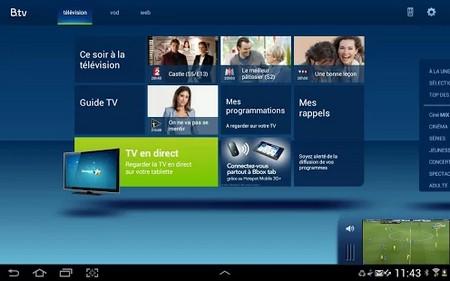 Bbox tab sur iPad et Android devient B.tv tablette Btvand10