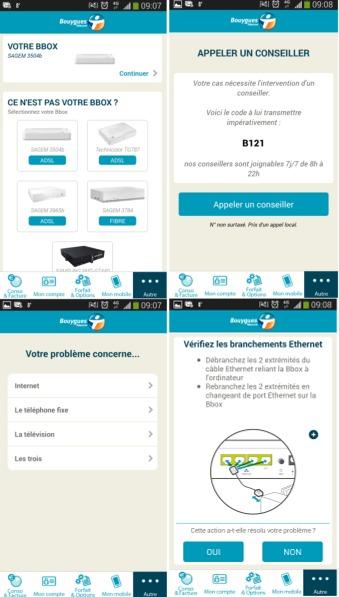 L' autodiagnostic Bbox sur l'Espace Client Mobile Ecm10