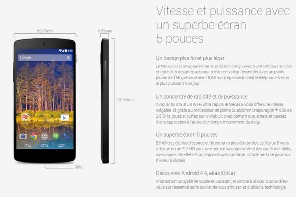 Google Nexus 5, prochainement disponible chez Bouygues Telecom Nexus510