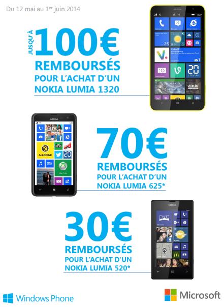 Promos sur les Nokia Lumia chez Bouygues Telecom, jusqu'à -100€ Nokiao10