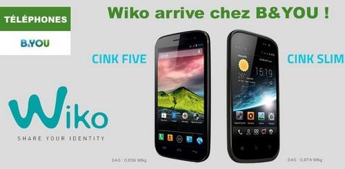 Les smartphones Wiko font leur rentrée chez B&YOU Wikoby10