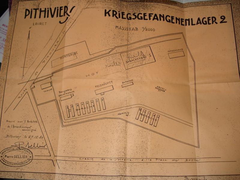 Plan original du camps de Pithiviers + lettre Us Pithiv10