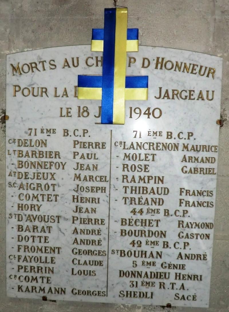 Plaques des combats du 18 Juin 1940 à Jargeau Plaque10