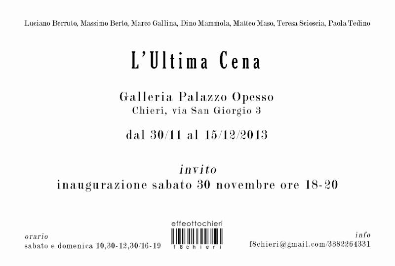 """L' """"ULTIMA CENA DI F8CHIERI"""" Ultima10"""
