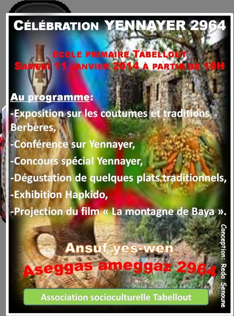 Célébration yennayer 2964 à Tabellout (Aokas). Image110