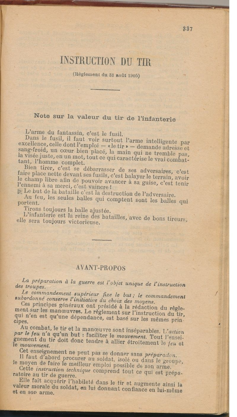 INSTRUCTION DU TIR réglement du 31 août 1905 Sans_t12