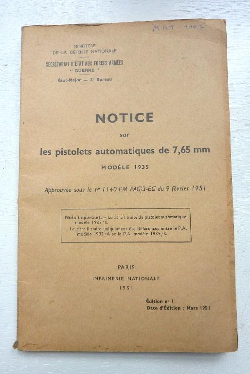 Manuel pistolets français en 7.65 Livret10