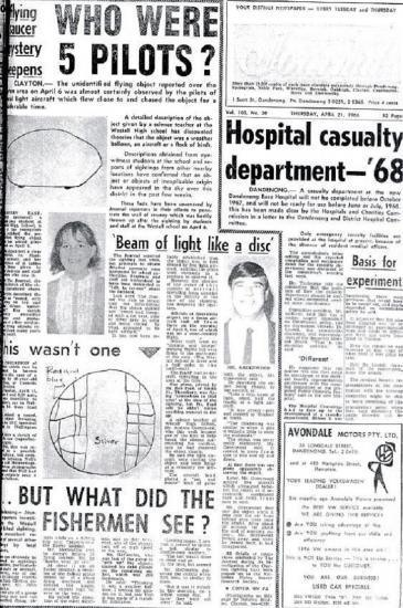 Dossier UFO:1966 OVNI à Westall High School, Melbourne Australie 1966-u10