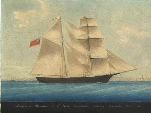 Le 4 décembre 1872.  Le navire-fantôme Mary Celeste vogue sans équipage au milieu de l'Atlantique. Mary_c10