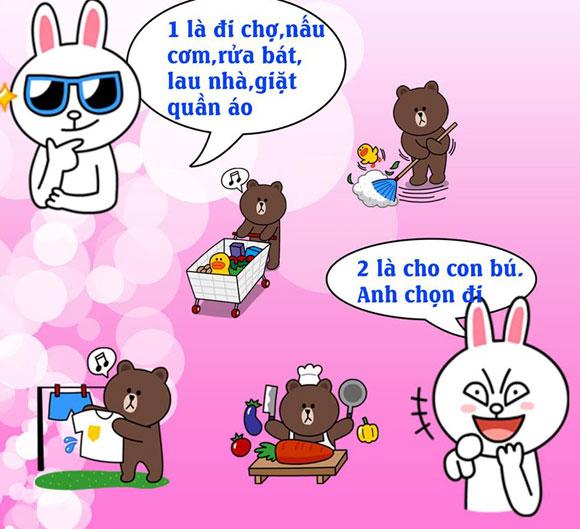 Chuyện Gấu Brown và thỏ Cony 0663b510