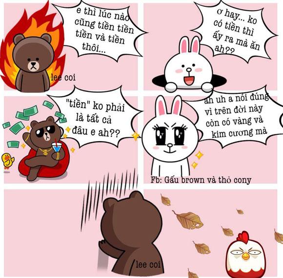 Chuyện Gấu Brown và thỏ Cony 08c64410