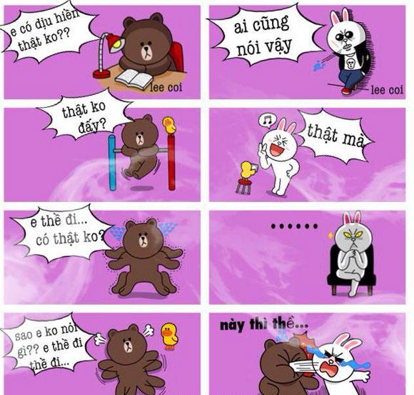 Chuyện Gấu Brown và thỏ Cony 4678c910