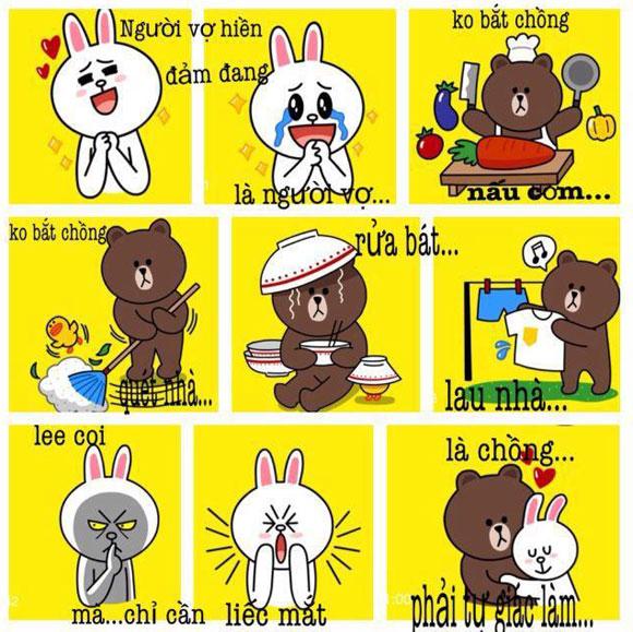 Chuyện Gấu Brown và thỏ Cony 5614b410