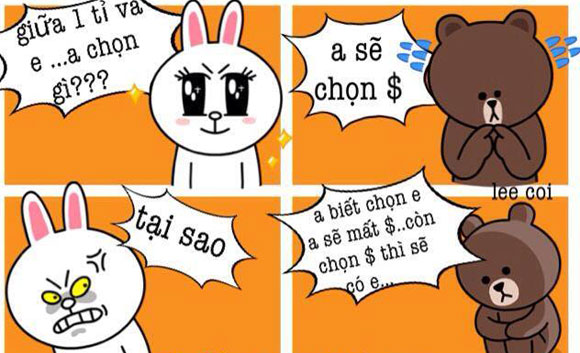 Chuyện Gấu Brown và thỏ Cony 95b2be10