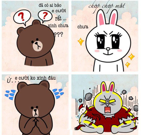 Chuyện Gấu Brown và thỏ Cony A7c5b610