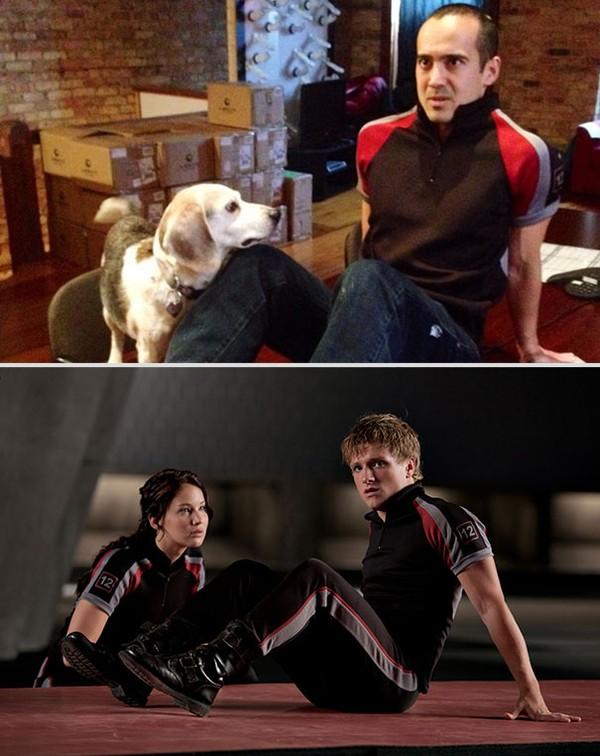 Bắt chước lại cảnh lãng mạn trong phim cùng... chú chó Bat-ch11