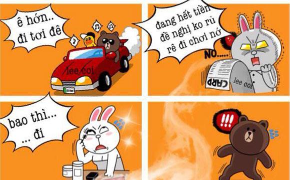 Chuyện Gấu Brown và thỏ Cony Bb54b110