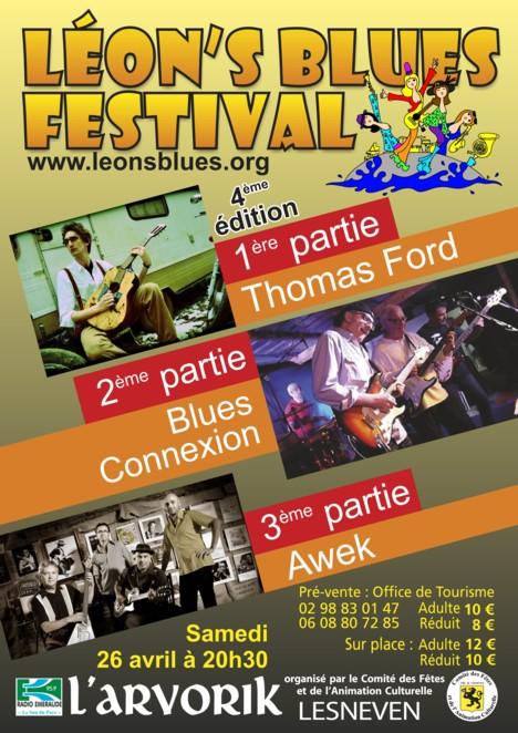 Leon's Blues Festival 2014 Affich10