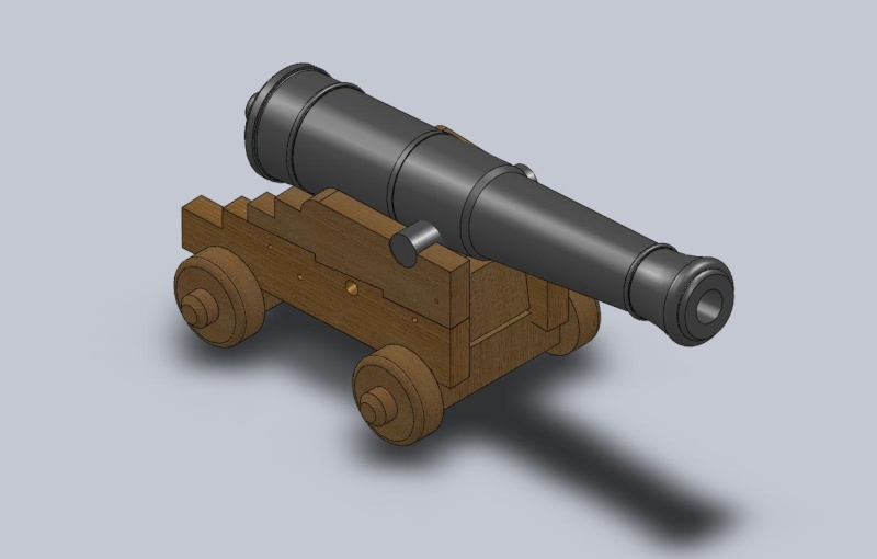 Cannone Francese da 36 libbre del 1750 Affust11