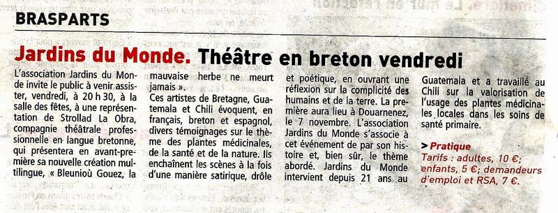 Théâtre en avant-première à Brasparts, vendredi 25 octobre à 20h30 Articl12