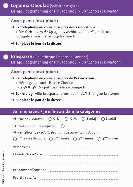 Skrivadeg 2014 - Dictée en Breton 2014 Dictee12